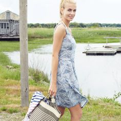 A beachy sundress and a tote bag – our summer uniform.
