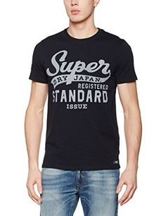 Superdry Men's Standard Issue T-Shirt Superdry men's Standard Issue t-shirt. A short sleeve crew neck t-shirt with a vintage inspired Superdry Standard Issue logo in a distressed print. The t-shirt also comes with a distressed print on one sleeve and is finished with a Superdry Athletic Company patch above the hem.Superdry Stand Issue T-Shirt BlueLarge Logo Print To Chest100% CottonMachine Washable  7 for all mankind, calvin jeans, Diesel, dl1961, g-star, guess jeans,