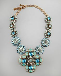 Statement-Pendant Necklace, Blue by Oscar de la Renta at Neiman Marcus.
