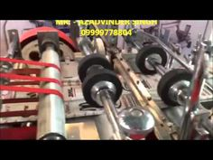 medicine paper cover making machine / paper bag making machine delhi india