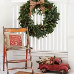 Swap tan for white in this Christmas color scheme to give your home a vintage holiday feel! http://www.bhg.com/christmas/indoor-decorating/christmas-color-schemes/?socsrc=bhgpin120814redandtancolorscheme&page=7