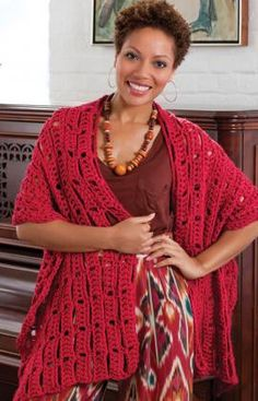 Wrap-sody in Red http://www.redheart.com/free-patterns/wrap-sody-red#.T7EeR-kHFwQ.pinterest