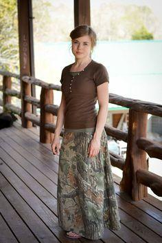 Fresh Modesty camo skirt! Love the top too