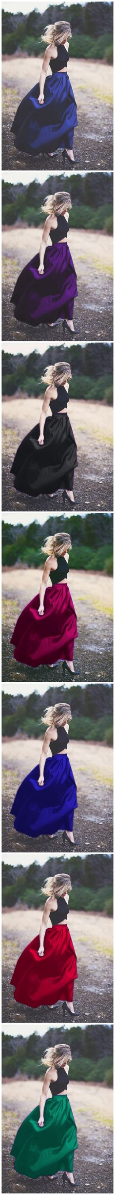 elegant crop top with taffeta ball gowns,this two piece dresses is an must have for your prom /evening/party or any other occasions! #birthday #twopiecepromdress #2pieceprom dress #longpartydress#photography #dreamdresses #elegant #chic