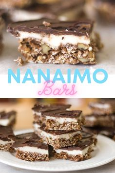 When you discover how easy these yummy Nanaimo Bars are to make, you won't be buying them at that coffee shop anymore! #easyrecipe #chocolate #starbucks #nanaimobars Best Chocolate Desserts, Chocolate Topping, Easy Desserts, Chocolate Chip Cookies, Dessert Recipes, Easy Cookie Recipes, Baking Recipes, Desserts Around The World, Nanaimo Bars
