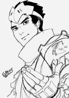 Overwatch genji coloring pages coloring pages for Overwatch genji coloring pages