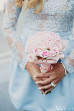A Rose Quartz And Serenity Wedding.  #RoseQuartz #Serenity