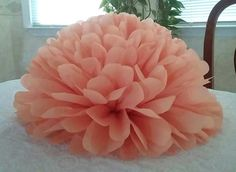 10 Large Tissue paper pom poms / Wedding decorations / Baby shower / Wedding anniversary / Bridal party / Party decorations