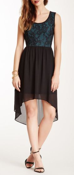 Night Lace Top Midi Dress
