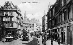 Escócia (Scotland), Glasgow - Charing Cross, c. acervo Old Postcards Of The Past Glasgow Scotland, Scotland Travel, Glasgow City Centre, Family History Book, Local History, Places Of Interest, Old Postcards, Old Photos, Country