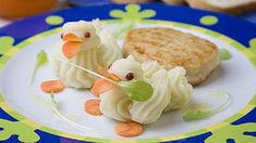 Mashed potato ducks