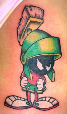 Sexy marvin the martian tattoo