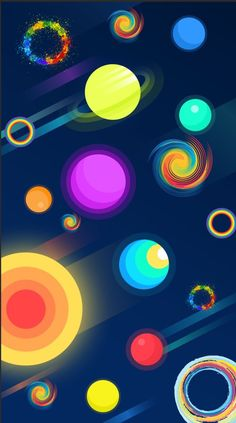 Colorful Galaxy Planets Wallpaper