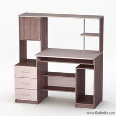 Компьютерный стол LED 60 Tv Unit Furniture, Furniture Plans, Table Furniture, Cool Furniture, Furniture Design, Computer Desk Design, Woodworking Jig Plans, Table Led, Wardrobe Room