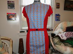 Color Block Dress that I made! ~The Clueless Couturière