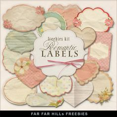 New Freebies Kit -Romantic Labels:Far Far Hill - Free database of digital illustrations and papers