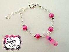 Shopkins Charm Bracelet Prommy Translucent by GlamShopBeads