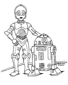 R2-3po coloring page