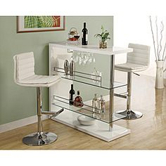 White/ Chrome Metal Hydraulic Lift Barstools (Set of 2) | Overstock.com Shopping - Great Deals on Monarch Bar Stools