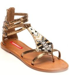 Unionbay Sherman Embellished Gladiator Sandals