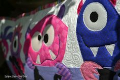 Monster Cushion by seamssewtogether, via Flickr