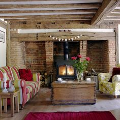 So cosy - liking the beams and the fireplaces