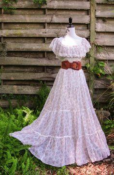 Vintage Gunne Sax dress/Gunne Sax/Prairie by INTUITIONVINTAGE, $180.00
