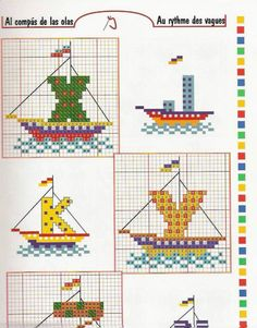 cross stitch alphabet sailboats letters for sails INCOMPLETE : MISSING t,u,v,w and what happened to 1/2 of the Z? 6 of 6