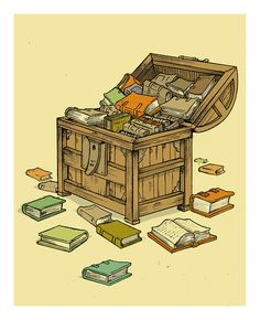 miguelalmagro: El cofre del tesoro…..        -   Books are a treasure...