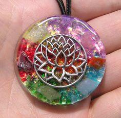 Lotus Flower Awakening Orgone Healing Pendant by mysticrocksorgone, $35.00