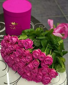 Flower Box Gift, Flower Boxes, My Flower, Purple Tulips, Pink Flowers, Red Roses, Good Morning Roses, Good Morning Happy, Rose Flower Wallpaper