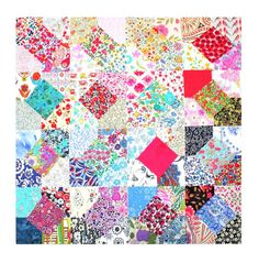 Mini Squares Liberty all different 2.5 80 number by PickClickSew #minicharmsquares
