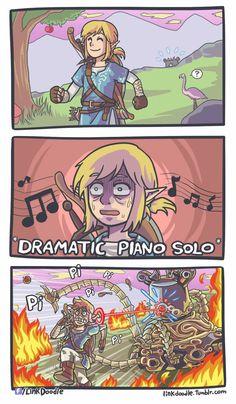 Legend of Zelda Breath of the Wild funny and true.
