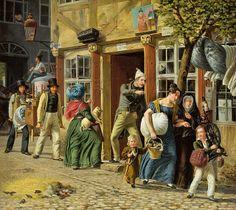 Marstrand, Wilhelm (1810-1873) - 1831 A Moving Day Scene (Nivaagaards Malerisamling, Copenhagen, Denmark)