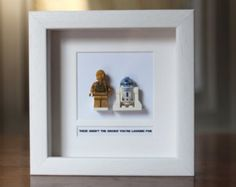 Star Wars Framed Mini Figure Master Yoda made by PrettyPeculiarUK
