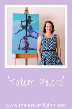 'Totem Polers' is a pole dance resin figure painting on canvas. The trio of aerialists are stacked in three different positions on the pole Resin Paintings, Pole Dance, Figure Painting, Figurative, Original Artwork, Summer Dresses, Beautiful, Pole Dancing, Pole Fitness