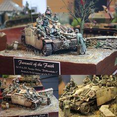 """Farewell of the Faith"" StuG III. Master modeler Volker Bemmbennek #scalemodel #plastimodelismo #hobby #diorama #plastickits #usinadoskits #udk #war #guerra #guerre #bataille #modelismo #modelisme #modelism #miniatura #miniature #miniatur #maqueta #maquette #arte #art"