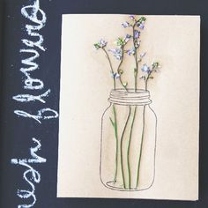 Use pressed flowers to make this pretty spring greeting card!