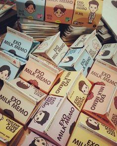 EXO Milk Memo (SM Artium) http://kpopmerchandiseworld.com/product/exo-milk-memo-sm-artium http://kpopmerchandiseworld.com/