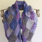 Cables and Lace Entrelac Cowl - via @Craftsy