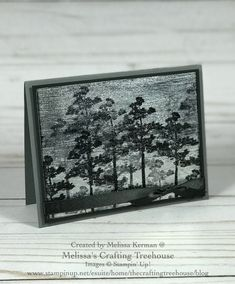 Rooted In Natures Stamp Set by Stampin' Up! with the Black Ice Technique by Melissa Kerman. 123 Cards, Nature Paper, Card Sketches, Sympathy Cards, Masculine Cards, Blank Cards, Cool Cards, Creative Cards, Greeting Cards Handmade