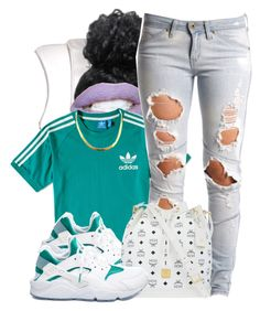 """Untitled #607"" by b-elkstone ❤ liked on Polyvore featuring adidas, NIKE, Lee and MCM"