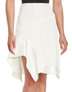 Dkny Knit Asymmetrical Skirt Women's White 8