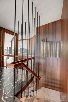 mid century modern staircase