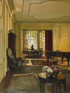 """laclefdescoeurs: """" An Artist's Home, 1927, Herbert Davis Richter """""""