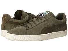 PUMA Suede Classic + Mod Heritage Forest Night/Whisper White - Zappos.com Free Shipping BOTH Ways