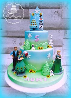 Frozen fever inspired cake - Cake by Delicious By Linzi