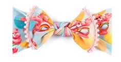 Baby Bling | Trimmed Printed Knot | Care Bears- Pastel Bubble | $15.99 | ECOBUNS BABY + CO. | www.ECOBUNS.com