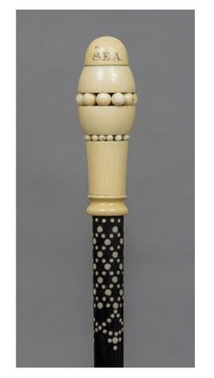 An Anglo-Indian ebony and ivory walking stick 1900