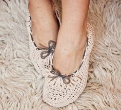 Instant download  - Crochet PATTERN (pdf file) for slippers - Ladies Loafers